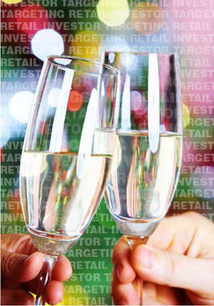 Individual investors toast the New Year with glasses half full!